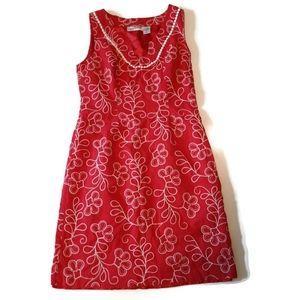 CHADWICKS Linen blend summer raspberry color dress